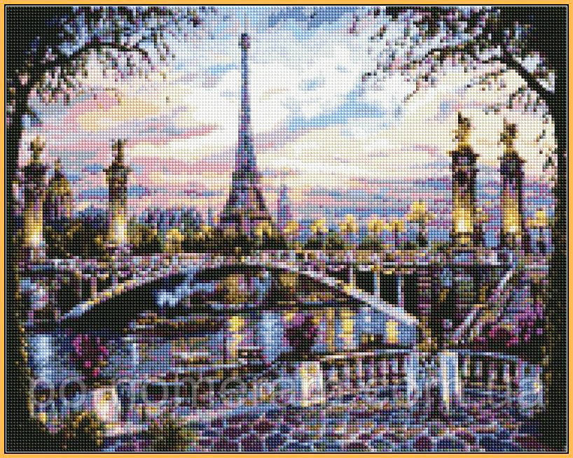 Алмазна мозаїка Babylon Спогади про Париж (ST397) 40 х 50 см
