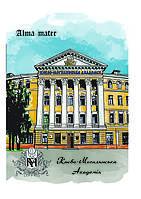 """Блокнот, """"Альма матер"""" B6, інтегральна палітурка 120 арк, клітинка Києво-Могилянська академія"""