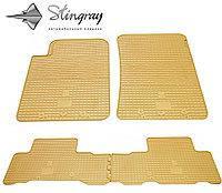 Гумові килимки SsangYong Rexton W 2013- (Санг Йонг Рэкстон) кількість 4 штуки