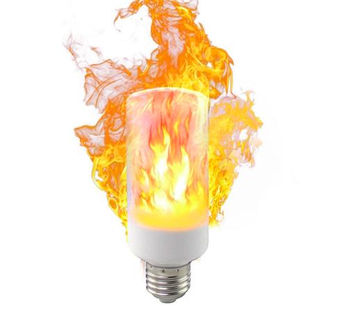 Лампочки и свечи с имитацией огня