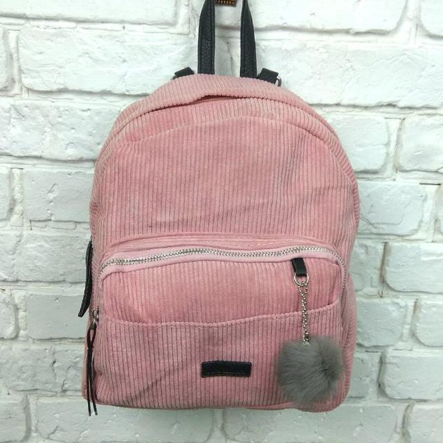 Вельветовый рюкзак розовый