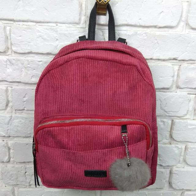Вельветовый рюкзак бордовый