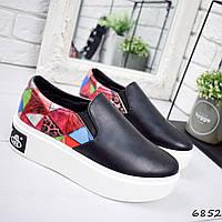 3d34e9533254 Женские слипоны черные в категории кроссовки, кеды повседневные в ...