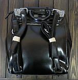 Черный рюкзак с клапаном Farfallo Rosso, фото 2