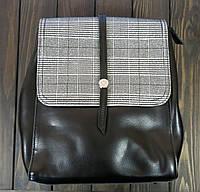 Черный рюкзак с клапаном Farfallo Rosso, фото 1