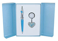 Набор подарочный Langres Miracle: ручка шариковая + брелок, синий