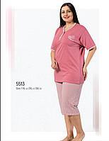 Женская пижама капри большого размера Fawn 5513 хлопок