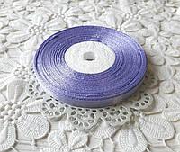 Лента атласная 0,6 см фиолетовая, лента фиолетовая атлас, лента атласная цвет фиолетовый, цена за метр