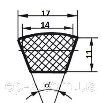 Ремень клиновой В (Б)-5600