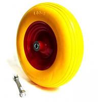 Колесо для тачки 4,00-6 + вісь 16мм Силікон з металевим диском