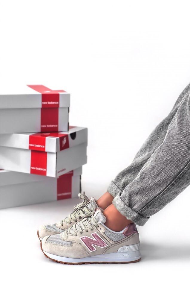 Кросівки жіночі сірі New Balance 574 розмір: 37-41