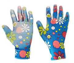 Перчатки рабочие садовые, нейлоновые женские с микроточкой, упаковка — 12 пар