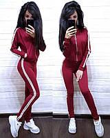 Костюм спортивный турецкая двухнитка, бордо, фото 1