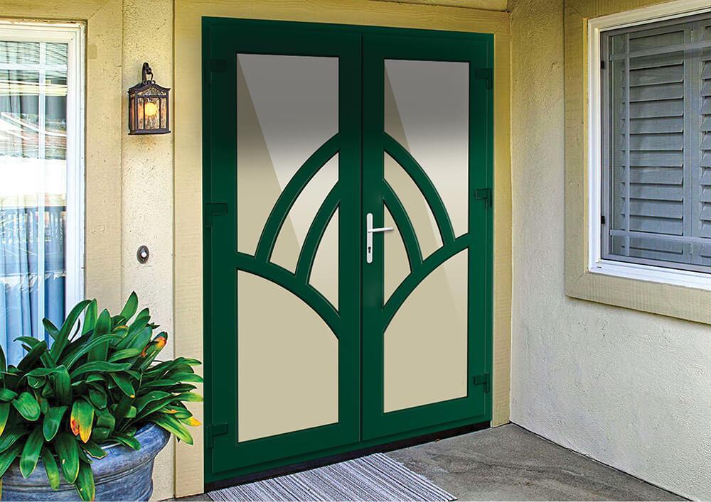 Дверь металлопластиковая входная штульповая