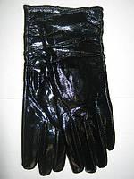 Перчатки женские кожаные лаковые
