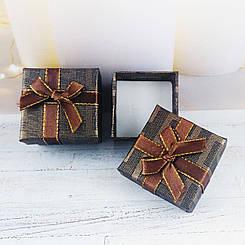 Подарочная коробочка с бантиком, коричневая