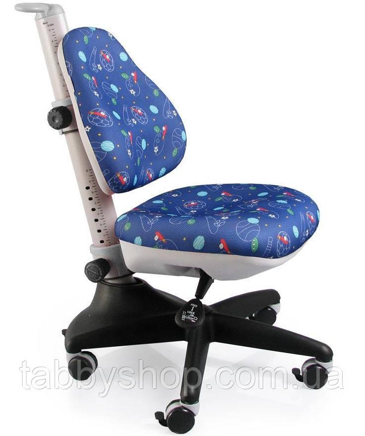 Детское регулируемое кресло MEALUX Conan F (обивка синяя с мячиками)