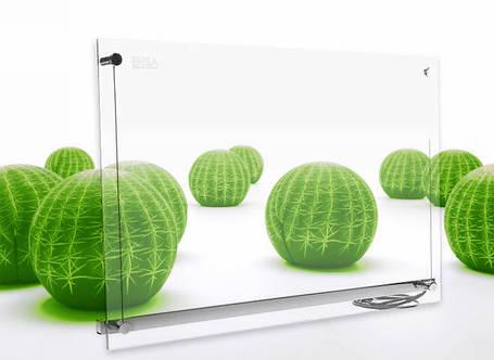 Обогреватель инфракрасный ENSA P750G-VISIO настенный стеклянный 750Вт, фото 2
