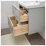 IKEA GODMORGON/RATTVIKEN Шкаф под умывальник с раковиной, Касжöн светло-серый  (692.469.38), фото 2