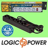 Сетевой фильтр LP-X5 LogicPower - 1.8 метра, 5 розеток (чёрный) Гарантия 2 года