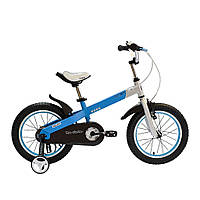 """Велосипед Royal Baby BUTTONS 12"""", OFFICIAL UA, бело-синий (Китай)"""