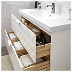 IKEA GODMORGON/ODENSVIK Шкаф под умывальник с раковиной, Ресжöн белый  (792.473.91), фото 2