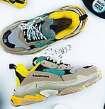 Женские кроссовки Женские кроссовки Balenciaga Triple S Trainers Beige/Yellow/Green. Живое фото (Реплика ААА+), фото 2