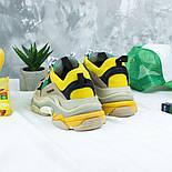 Женские кроссовки Женские кроссовки Balenciaga Triple S Trainers Beige/Yellow/Green. Живое фото (Реплика ААА+), фото 3