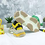 Женские кроссовки Женские кроссовки Balenciaga Triple S Trainers Beige/Yellow/Green. Живое фото (Реплика ААА+), фото 4