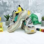 Женские кроссовки Женские кроссовки Balenciaga Triple S Trainers Beige/Yellow/Green. Живое фото (Реплика ААА+), фото 5