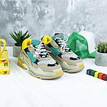 Женские кроссовки Женские кроссовки Balenciaga Triple S Trainers Beige/Yellow/Green. Живое фото (Реплика ААА+), фото 6