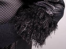 Элегантная легкая женская черная куртка больших размеров: 50-68, фото 3