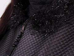 Элегантная легкая женская черная куртка больших размеров: 50-68, фото 2