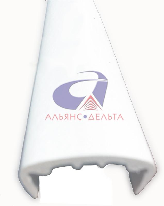 Профиль торцевой, ПВХ Н=2440мм для экономпанелей и экспопанелей белый