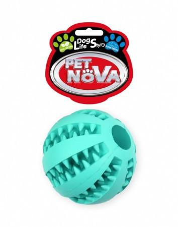 Игрушка для собак Мяч бейсбольный SuperDent PetNova 7 см, цвет мятный