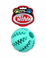 Игрушка для собак Мяч бейсбольный SuperDent PetNova 7 см, цвет мятный, фото 1