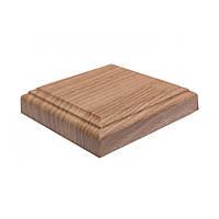 Розетка ПВХ квадратная дуб золотой, комплект
