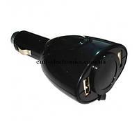 Автомобильный переходник в прикуриватель + 2 USB гнезда
