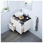 IKEA GODMORGON/TOLKEN/TORNVIKEN Шкаф под умывальник с раковиной 45 см, белый, антрацит  (191.910.71), фото 2