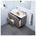 IKEA GODMORGON/TOLKEN/TORNVIKEN Шкаф под умывальник с раковиной 45 см, глянцевый серый, белый  (591.932.47), фото 2