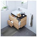 IKEA GODMORGON/TOLKEN/TORNVIKEN Шкаф под умывальник с раковиной 45x45, белый дубовый шпон, (191.911.32), фото 2