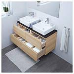 IKEA GODMORGON/TOLKEN/TORNVIKEN Шкаф под умывальник с раковиной, белый окрашенный дуб, (191.865.12), фото 2