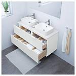 IKEA GODMORGON/TOLKEN/HORVIK Шкаф под умывальник с раковиной 45x32, белый, белый  (692.087.00), фото 2