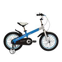 """Велосипед Royal Baby BUTTONS DIY 14"""", OFFICIAL UA, бело- голубой (Китай)"""