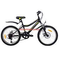 Детский велосипед Azimut Voltage D 20 дюймов черно-желтый