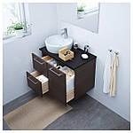 IKEA GODMORGON Шкаф под умывальник, черно-коричневый  (703.246.47), фото 2
