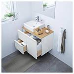 IKEA GODMORGON Шкаф под умывальник, глянцевый белый  (903.246.51), фото 2