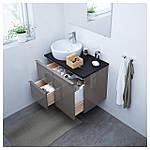 IKEA GODMORGON Шкаф под умывальник, глянцевый серый  (303.246.49), фото 2