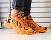 Кроссовки ADIDAS оранжевые замшевые с синими вставками