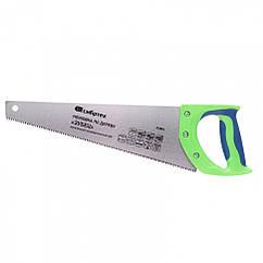 "Ножовка по дереву ""Зубец"", 450 мм, 7-8 TPI, зуб 2D, калёный зуб, 2-х компонентная рукоятка// Сибртех"